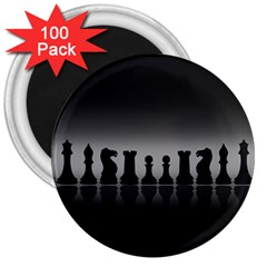 Chess Pieces 3  Magnets (100 Pack) by Valentinaart