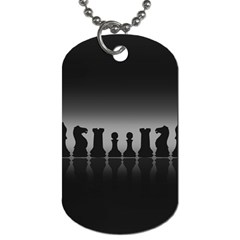Chess Pieces Dog Tag (two Sides)
