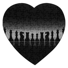 Chess Pieces Jigsaw Puzzle (heart) by Valentinaart