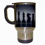 Chess Pieces Travel Mugs (White) Left
