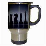 Chess Pieces Travel Mugs (White) Right