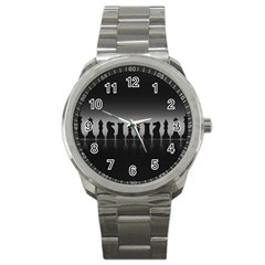 Chess Pieces Sport Metal Watch by Valentinaart