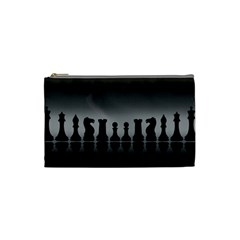 Chess Pieces Cosmetic Bag (small)  by Valentinaart