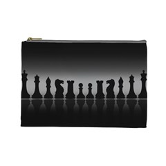 Chess Pieces Cosmetic Bag (large)
