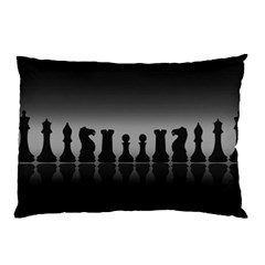 Chess Pieces Pillow Case (two Sides) by Valentinaart