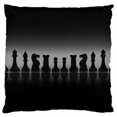 Chess Pieces Large Cushion Case (one Side) by Valentinaart