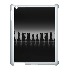 Chess Pieces Apple Ipad 3/4 Case (white) by Valentinaart