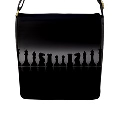 Chess Pieces Flap Messenger Bag (l)  by Valentinaart