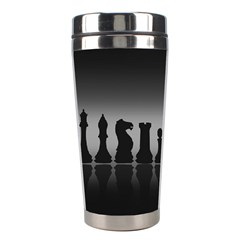Chess Pieces Stainless Steel Travel Tumblers by Valentinaart