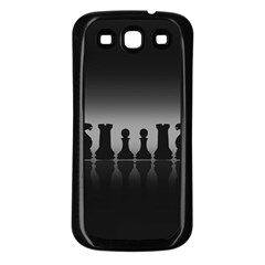 Chess Pieces Samsung Galaxy S3 Back Case (black) by Valentinaart