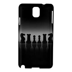 Chess Pieces Samsung Galaxy Note 3 N9005 Hardshell Case by Valentinaart