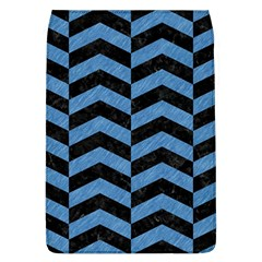 Chevron2 Black Marble & Blue Colored Pencil Removable Flap Cover (l) by trendistuff