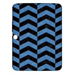 Chevron2 Black Marble & Blue Colored Pencil Samsung Galaxy Tab 3 (10 1 ) P5200 Hardshell Case  by trendistuff