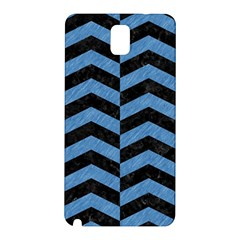 Chevron2 Black Marble & Blue Colored Pencil Samsung Galaxy Note 3 N9005 Hardshell Back Case by trendistuff