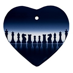 Chess Pieces Ornament (heart)