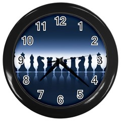 Chess Pieces Wall Clocks (black) by Valentinaart