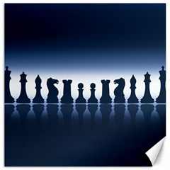 Chess Pieces Canvas 12  X 12   by Valentinaart