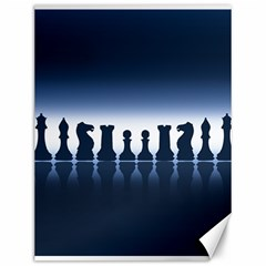 Chess Pieces Canvas 12  X 16   by Valentinaart