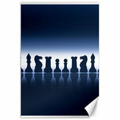 Chess Pieces Canvas 20  X 30   by Valentinaart