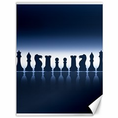 Chess Pieces Canvas 36  X 48   by Valentinaart