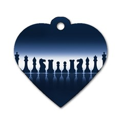 Chess Pieces Dog Tag Heart (two Sides) by Valentinaart