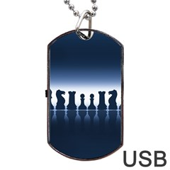 Chess Pieces Dog Tag Usb Flash (two Sides) by Valentinaart