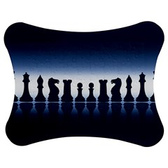 Chess Pieces Jigsaw Puzzle Photo Stand (bow)