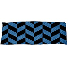 Chevron1 Black Marble & Blue Colored Pencil Body Pillow Case Dakimakura (two Sides) by trendistuff