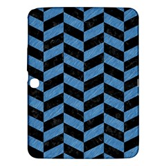 Chevron1 Black Marble & Blue Colored Pencil Samsung Galaxy Tab 3 (10 1 ) P5200 Hardshell Case  by trendistuff