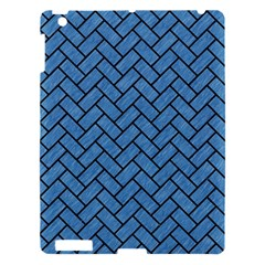Brick2 Black Marble & Blue Colored Pencil (r) Apple Ipad 3/4 Hardshell Case by trendistuff