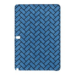 Brick2 Black Marble & Blue Colored Pencil (r) Samsung Galaxy Tab Pro 10 1 Hardshell Case by trendistuff