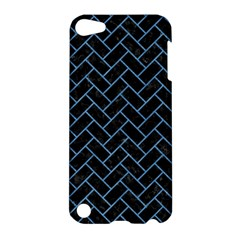 Brick2 Black Marble & Blue Colored Pencil Apple Ipod Touch 5 Hardshell Case by trendistuff