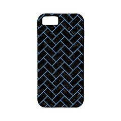 Brick2 Black Marble & Blue Colored Pencil Apple Iphone 5 Classic Hardshell Case (pc+silicone) by trendistuff