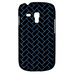 Brick2 Black Marble & Blue Colored Pencil Samsung Galaxy S3 Mini I8190 Hardshell Case by trendistuff
