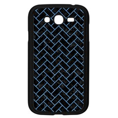 Brick2 Black Marble & Blue Colored Pencil Samsung Galaxy Grand Duos I9082 Case (black) by trendistuff
