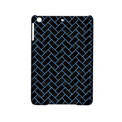 Brick2 Black Marble & Blue Colored Pencil Apple Ipad Mini 2 Hardshell Case by trendistuff