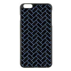 Brick2 Black Marble & Blue Colored Pencil Apple Iphone 6 Plus/6s Plus Black Enamel Case by trendistuff
