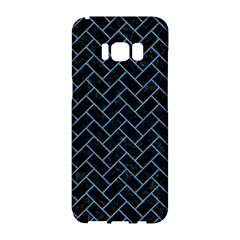 Brick2 Black Marble & Blue Colored Pencil Samsung Galaxy S8 Hardshell Case  by trendistuff