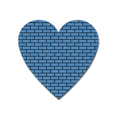 Brick1 Black Marble & Blue Colored Pencil (r) Magnet (heart) by trendistuff