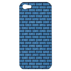 Brick1 Black Marble & Blue Colored Pencil (r) Apple Iphone 5 Hardshell Case by trendistuff
