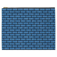 Brick1 Black Marble & Blue Colored Pencil (r) Cosmetic Bag (xxxl) by trendistuff