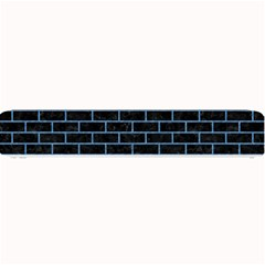 Brick1 Black Marble & Blue Colored Pencil Small Bar Mat by trendistuff