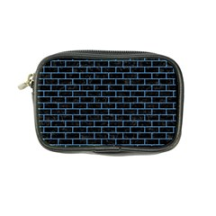 Brick1 Black Marble & Blue Colored Pencil Coin Purse