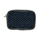 BRICK1 BLACK MARBLE & BLUE COLORED PENCIL Coin Purse Front