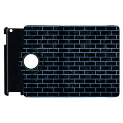 Brick1 Black Marble & Blue Colored Pencil Apple Ipad 3/4 Flip 360 Case by trendistuff