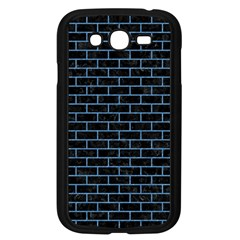 Brick1 Black Marble & Blue Colored Pencil Samsung Galaxy Grand Duos I9082 Case (black) by trendistuff