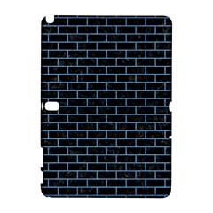 Brick1 Black Marble & Blue Colored Pencil Samsung Galaxy Note 10 1 (p600) Hardshell Case by trendistuff