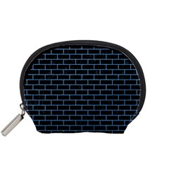 Brick1 Black Marble & Blue Colored Pencil Accessory Pouch (small) by trendistuff