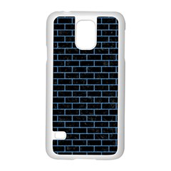 Brick1 Black Marble & Blue Colored Pencil Samsung Galaxy S5 Case (white) by trendistuff