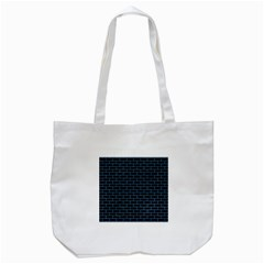 Brick1 Black Marble & Blue Colored Pencil Tote Bag (white) by trendistuff